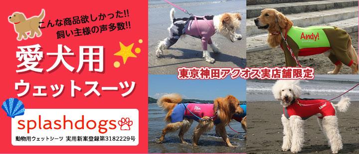 愛犬用ウェットスーツ カスタムオーダー「Splashdogs」